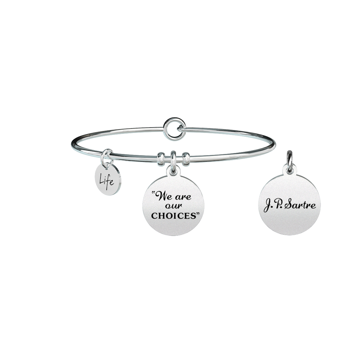 Bracciale KIDULT philosophy acciaio 316L 731301 WE ARE OUR CHOICES