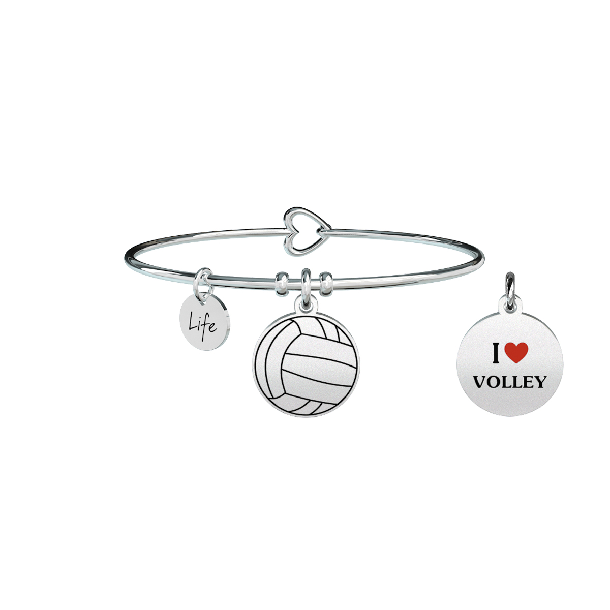 Bracciale KIDULT Free time acciaio 316L 731293 I love volley