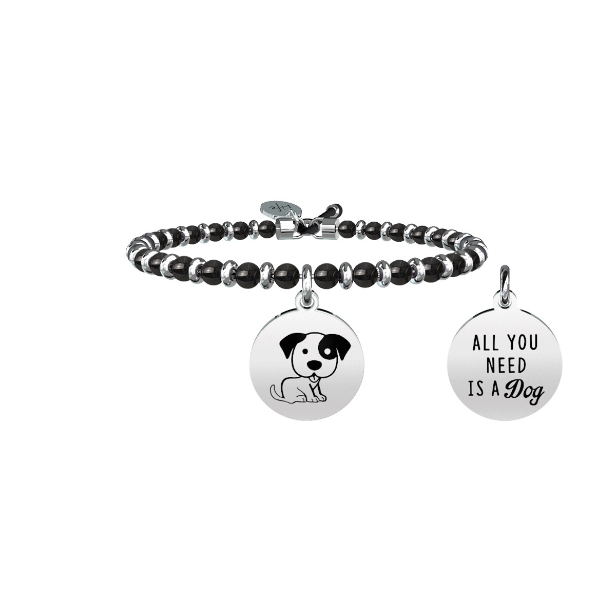 Kidult life 731452 collection bracciale acciaio  Cane affetto