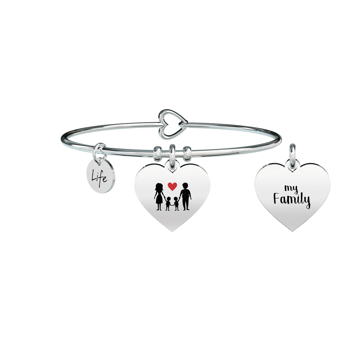 Bracciale KIDULT 731629 family acciaio 316L cuore my family
