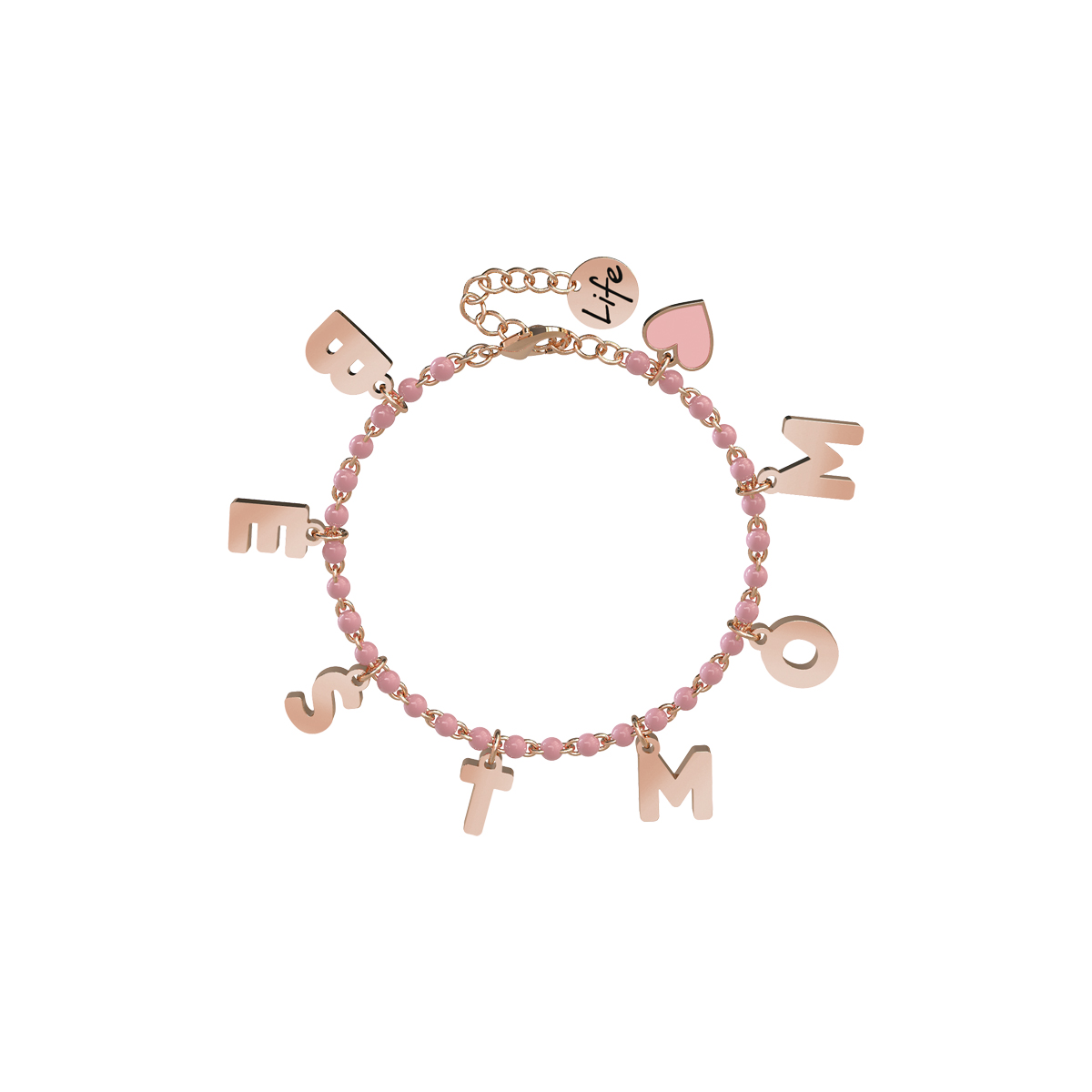 Bracciale Kidult in Acciaio e Smalti  Best Mom  Family 731591