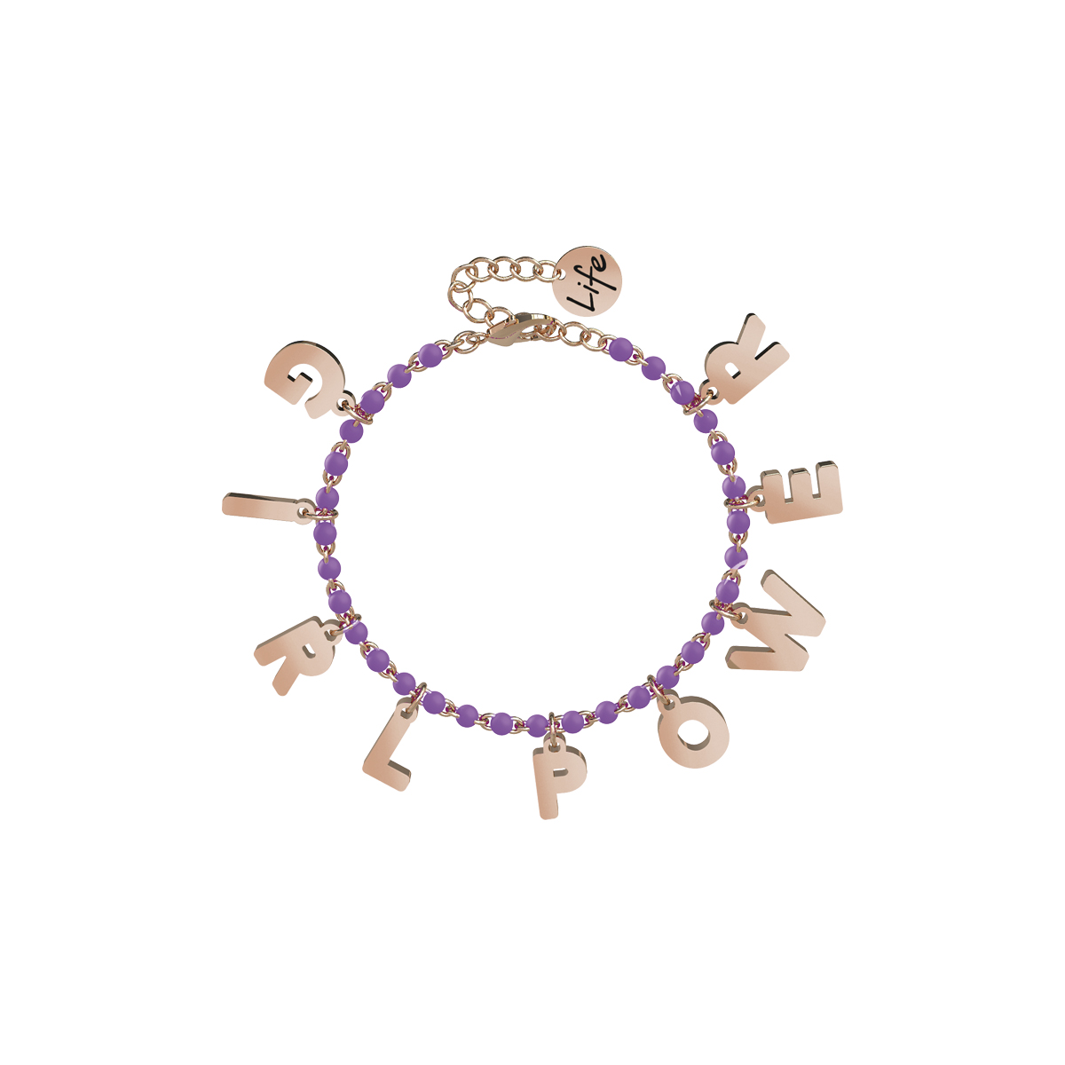 Bracciale Kidult in Acciaio e Smalti Girl Power Philosophy 731583