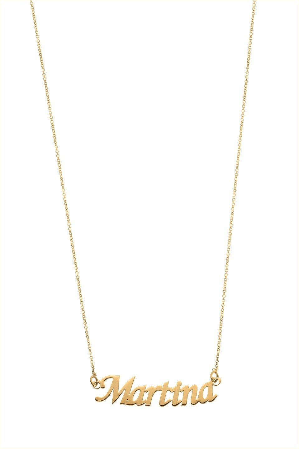 COLLANA NOME DONNA ref 25nb01 MY CHARM ORO 18 kt INCISIONE NOME A LASER
