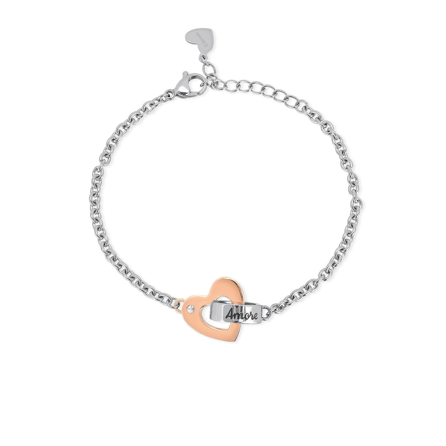 2 Jewels Bracciale Donna 231838 Acciaio 316L Link with love Beatrice Valli