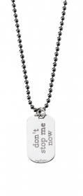 "MY CHARM  Essenze collana uomo argento ciondolo oro 18 kt ""don't stop me now"""
