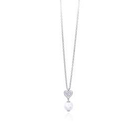Mabina outlet 553218 argento925 zirconie collana donna