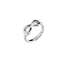 2 jewels anello acciaio 316l 221041 serie endless infinito