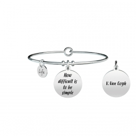 Bracciale KIDULT philosophy acciaio 316L 731302 HOW DIFFICULT IS TO....