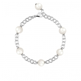 Mabina outlet 533245 bracciale argento donna perle coltivate