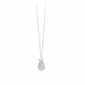 Mabina outlet 553237 collana argento ananas zirconie
