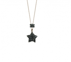 MY Charm Collana  ORO18 KT e Diamanti neri ref k002n coll Luxury
