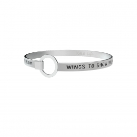 "Bracciale KIDULT Philosophy acciaio 316L 731348 ""wings to show you what you.."