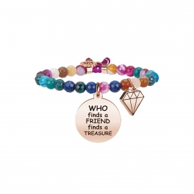 Bracciale KIDULT 731670 love acciaio 316L who finds a friend