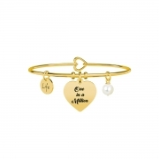 Kidult life 731633 collection bracciale acciaio cuore/one in a million