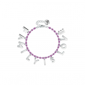 Bracciale Kidult in Acciaio e Smalti Family is Love  Family 731584