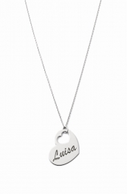 COLLANA DONNA ag2pe39 MY CHARM argento INCISIONE LASER