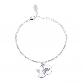 Mabina outlet 533178 bracciale my angel argento donna