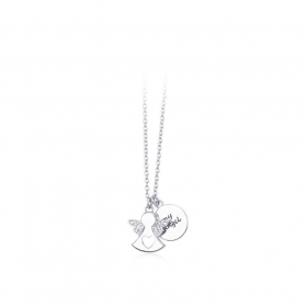 Mabina outlet 553162 collana argento my angel zirconie