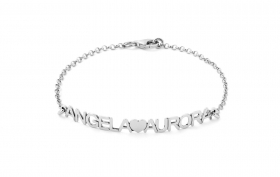 Bracciale Donna/uomo ag4br5 MY CHARM argento INCISIONE A LASER