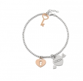 Bracciale Donna ag4br40 MY CHARM argento INCISIONE A LASER