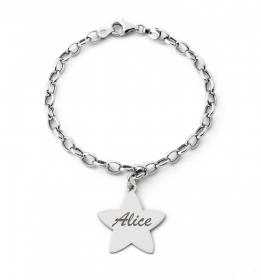 Bracciale Donna ag4br16 MY CHARM argento INCISIONE A LASER